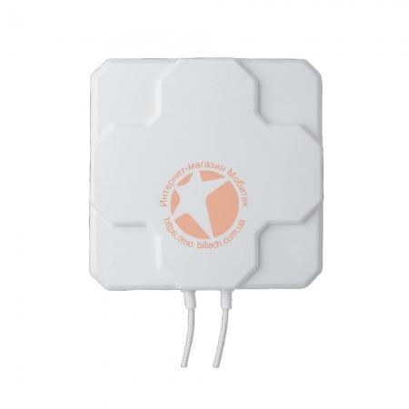Панельная широкоугольная 4G LTE MIMO антенна усилением 2 × 22 dBi (800-2600 МГц)