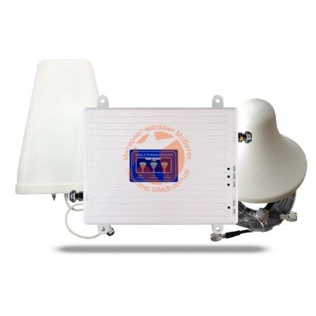 Комплект усиления мобильной связи 2G GSM и 3G/4G интернета Универсальный PLUS (900/1800/2100 МГц)