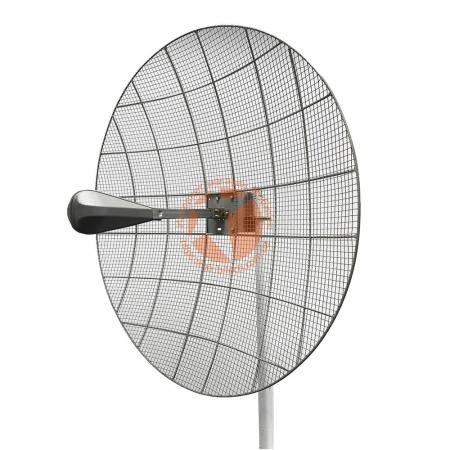 Параболическая 3G / 4G LTE MIMO антенна Kroks KN30-1700/2700 усилением 30 dBi (1700-2700 МГц)