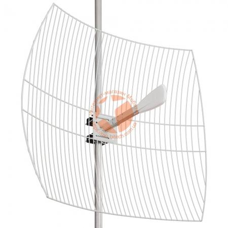 Параболическая 3G / 4G LTE MIMO антенна Kroks KNA27-1700/2700 усилением 27 dBi (1700-2700 МГц)