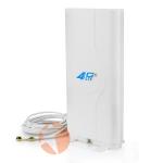 Антенна панельная всенаправленная 4G LTE MIMO 1800-2600 МГц усилением 9dBi